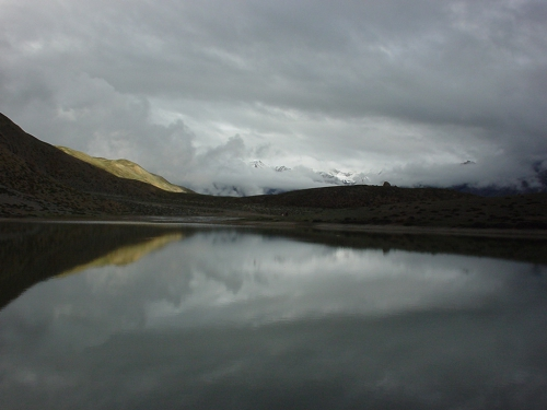 Dhankar lake - the mirror image
