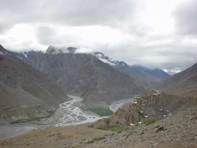 Dhankar village - Pin and Spiti river confluence