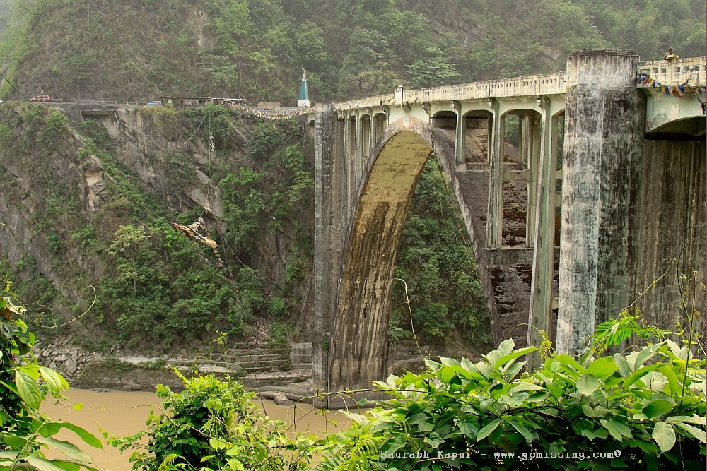 Coronation bridge - River Teesta in West Bengal