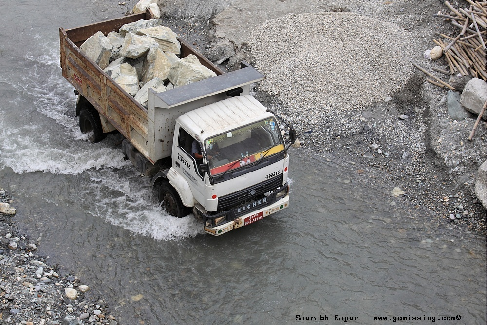 They drive trucks in rivers!!