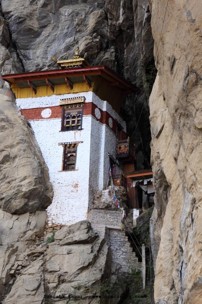 Meditation room built into the rocks
