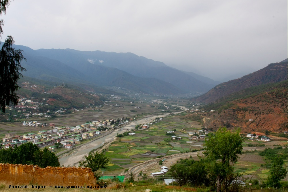 Paro valley... as seen from the museum