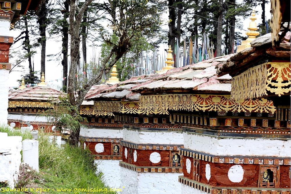 108 stupas at the Dochula Pass