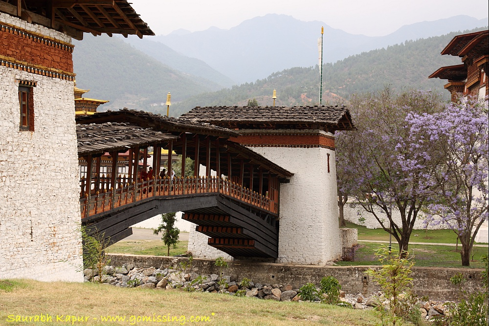Punakha Dzong - Across the bridge