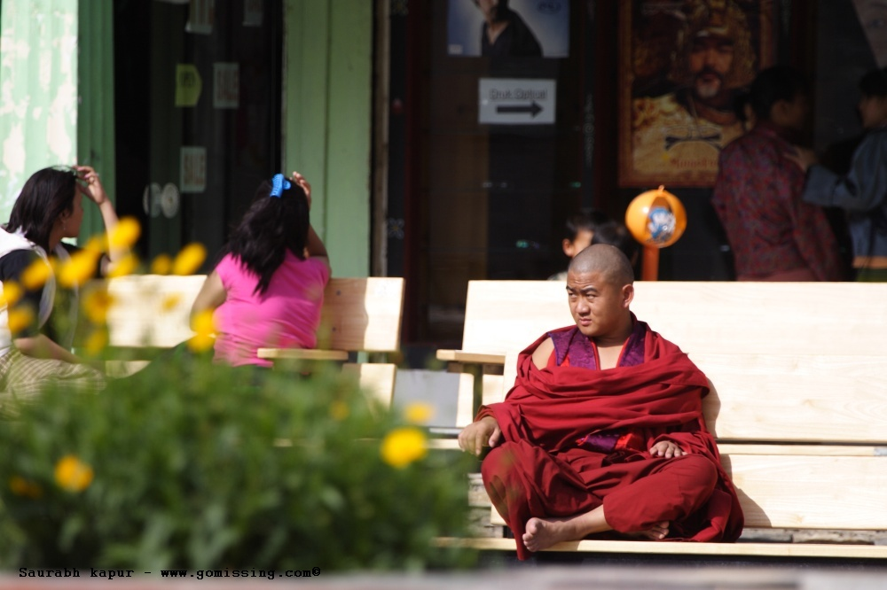 Monk - Thimpu square (not sure what he is frowning at)