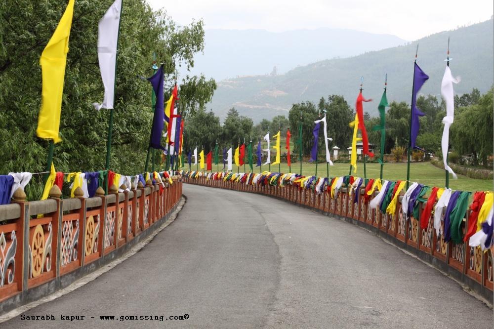 Road leading to Thimpu