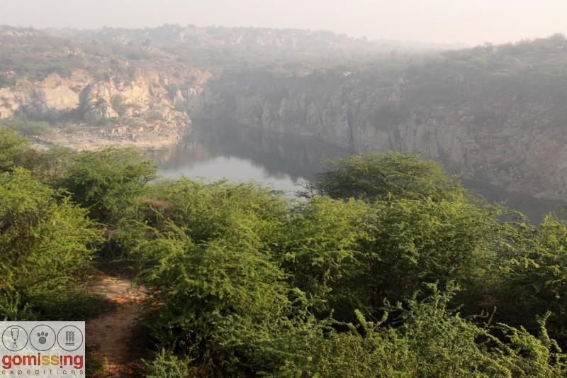 Hillocks near bhardwaj lake