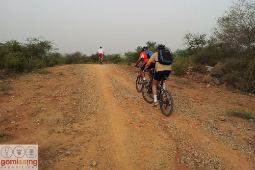 Uphill section - Riding to Bhardwaj lake