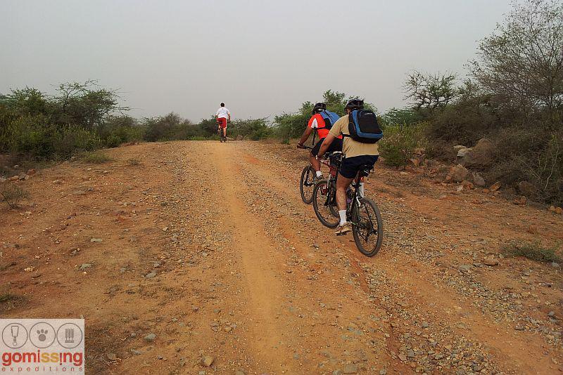 Uphill section - Riding to Bhardwaj lake