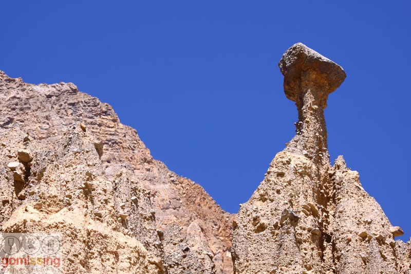 Gorgeous rock formations in Spiti