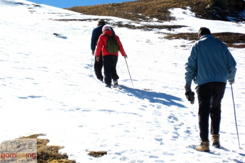 Trekking to Kuari Pass