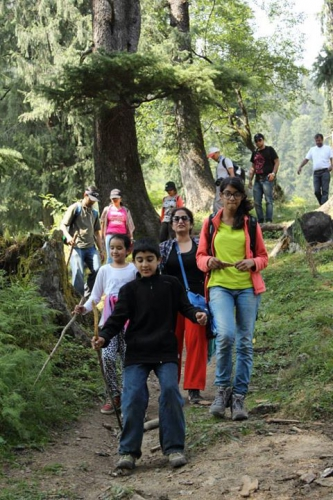 Hiking around  Manali