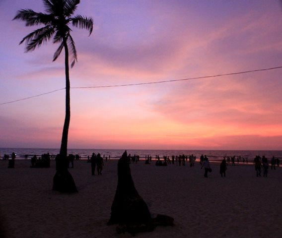 Sunset at Colva Beach