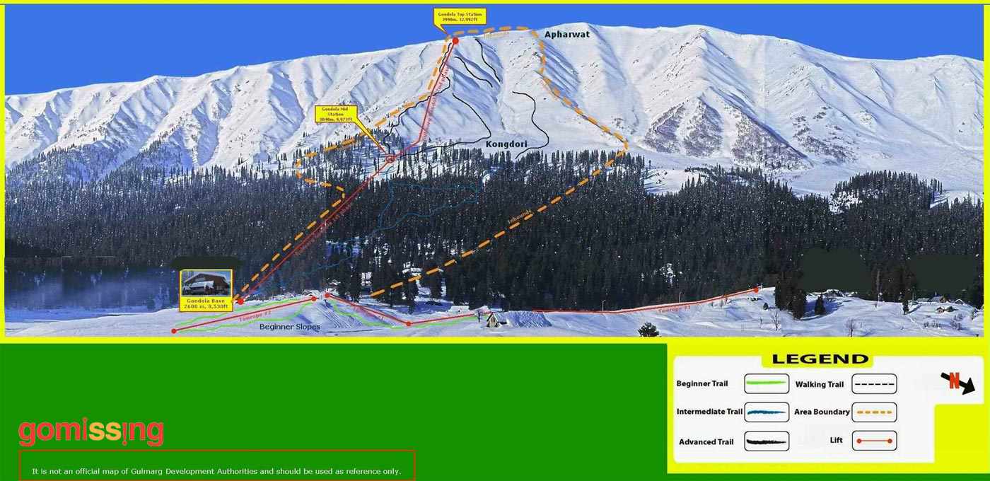 Gulmarg Ski Resort Map