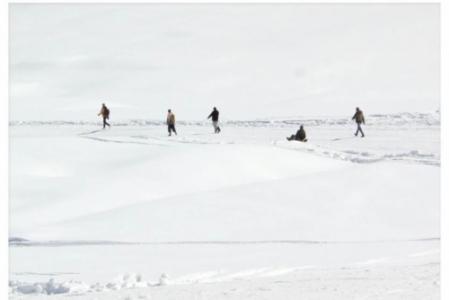 Skiing slopes at Gulmarg