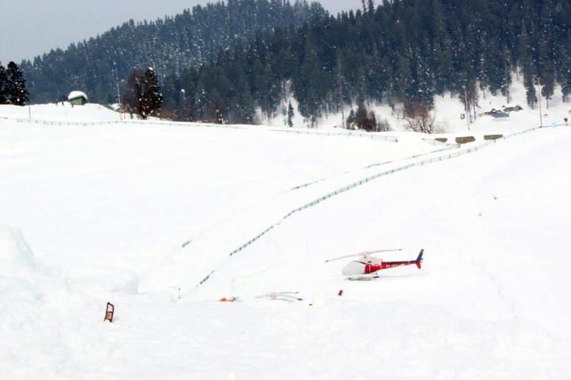Heli-skiing at Gulmarg
