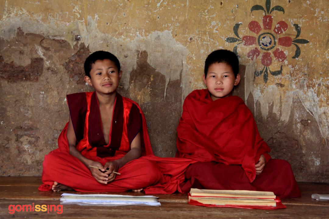 Monks studying Bhutan