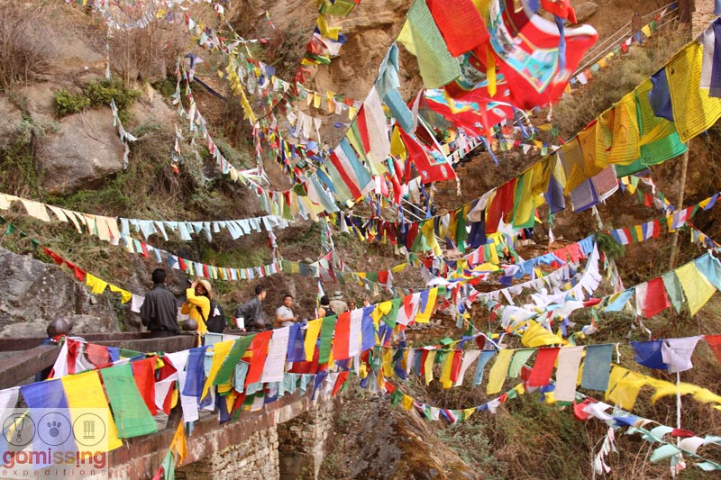 Prayer flags at Tiger's nest