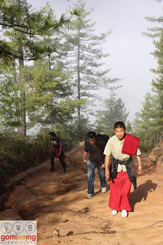 Trekking with the monk