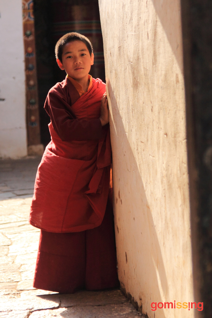 Young Monk with halo
