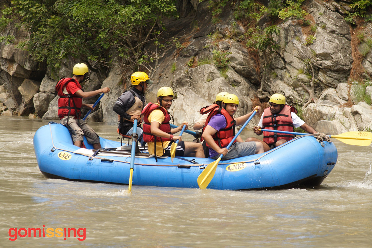 Rafting on the Tons River