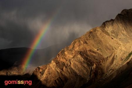 Rainbow seen while driving through Spiti