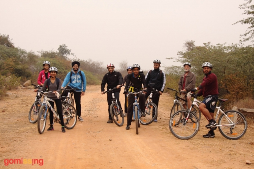 Cycling in Asola sanctuary