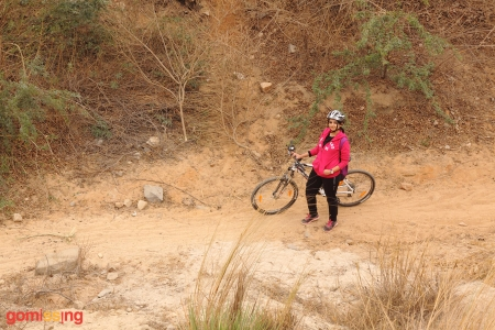 Sand section of the Asola Bhardwaj lake trail