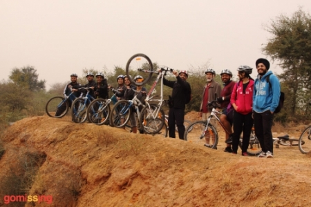 Team cycling event in Delhi