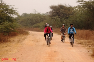 Trail riding in Asola sanctuary