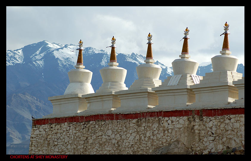 Chortens-at-Shey: Shot by Pranay Chandra