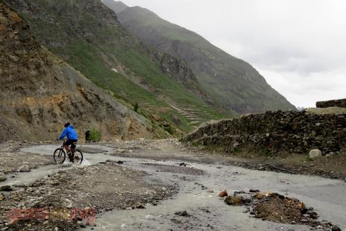 Gramphoo to Keylong - Stream crossing section