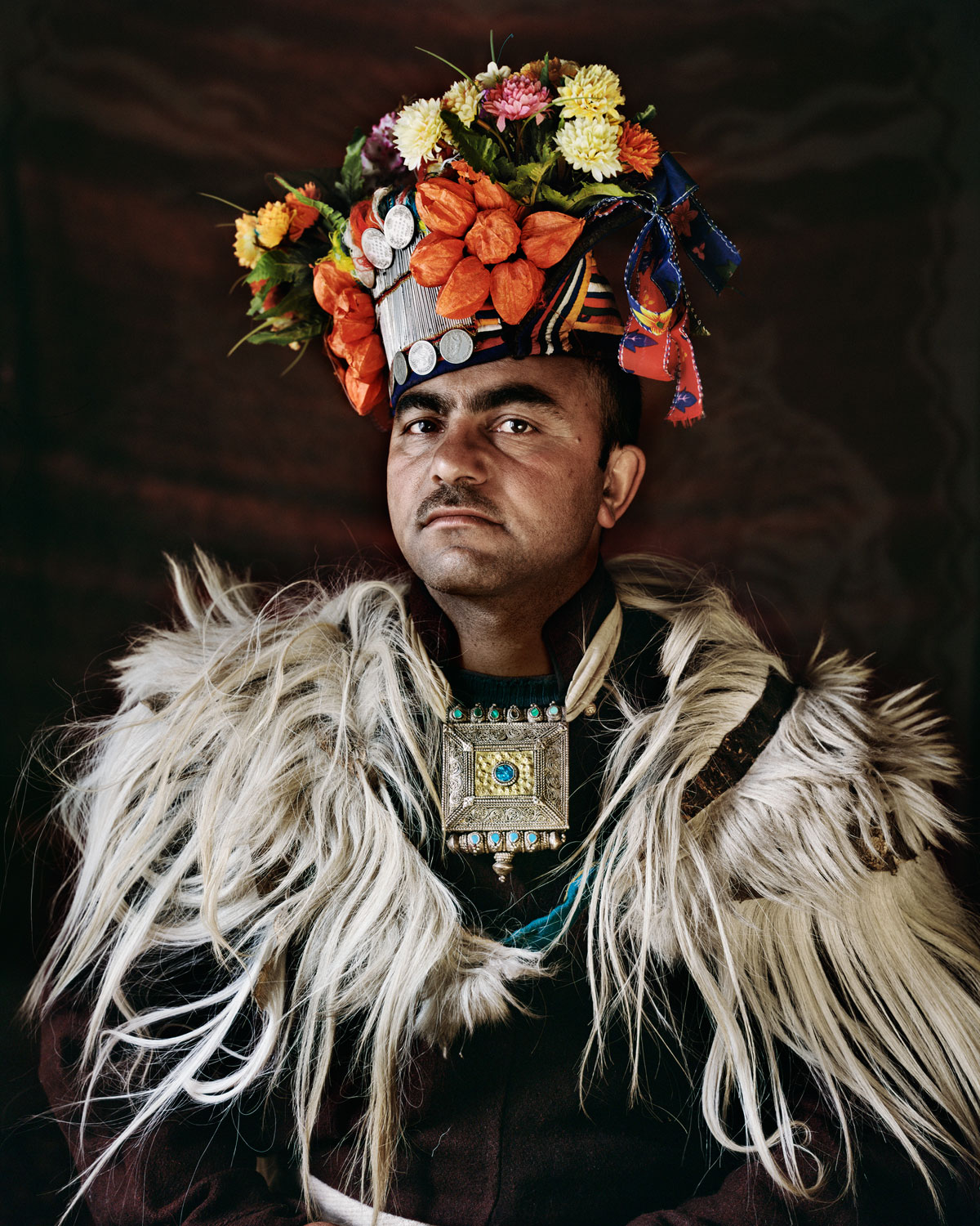 A male member of the tribe in traditional wear.