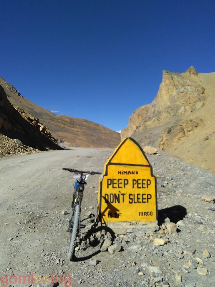 Ladakh funny road sign