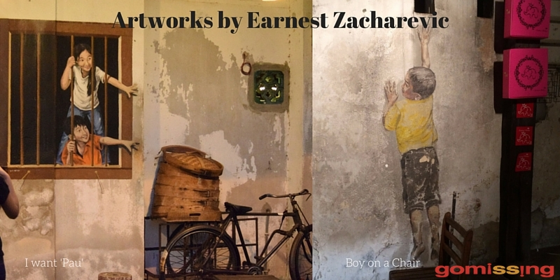 Artworks by Earnest Zacharevic, Penang