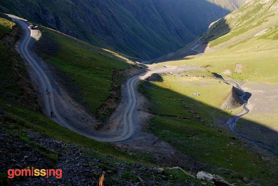 Georgia Tusheti cycling - Downhill sections