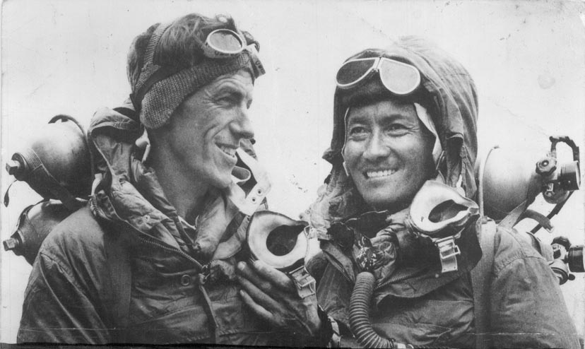 Hillary and Tenzing: Picture Credit - Wikipedia