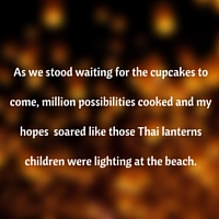 Feelings soar like those thai lanterns