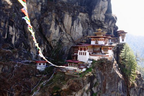 Majestic Tiger's Nest. in Paro Valley, Bhutan
