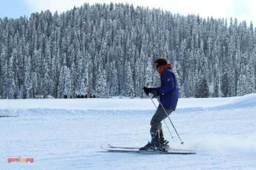 Skiing in Gulmarg, Kashmir with Monkey Hill