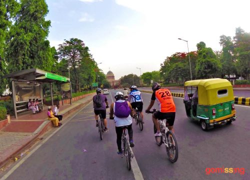Cycling in New Delhi