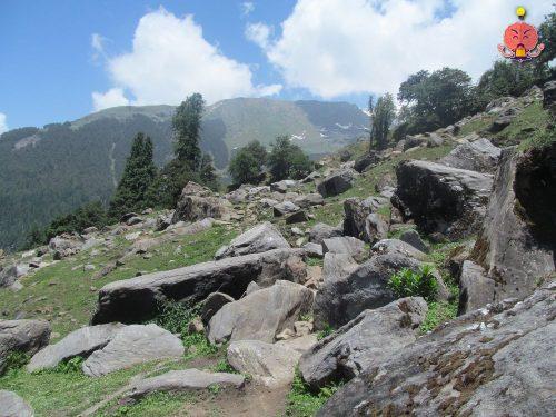 Hamta Circle boulders