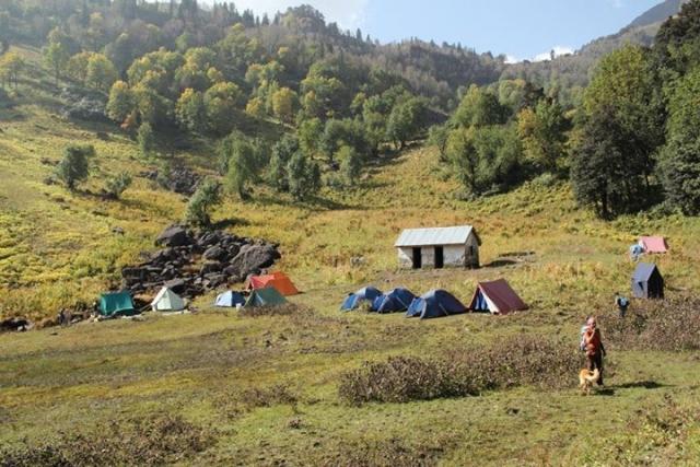The GoMissing Lama Dug campsite