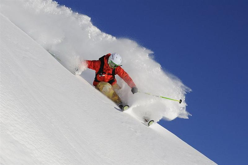 Backcountry skiing in Gulmarg